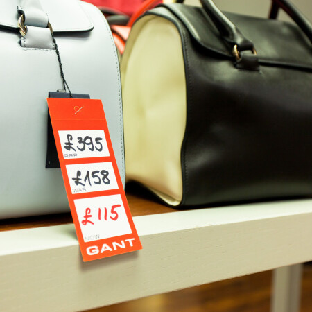 Gant Point of Sale label