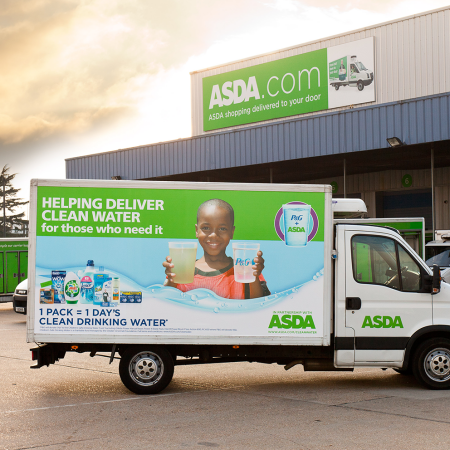 ASDA Delivery Vans Livery from side