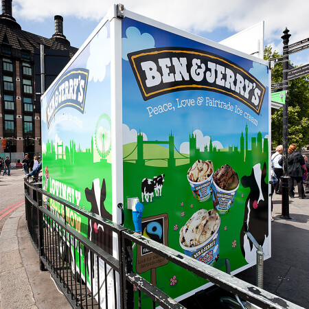 Ben & Jerry's livery on trailer