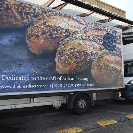 Bread - Freshly Made Fleet Livery lorry side