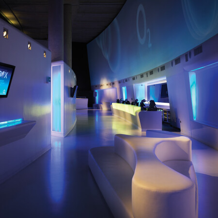 The O2 Arena Architectural Graphics bar area