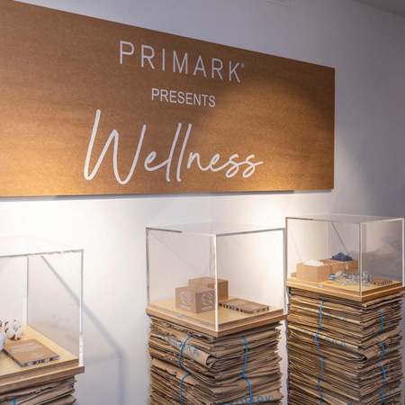 Primark Wellness Instore Graphics logo on wall