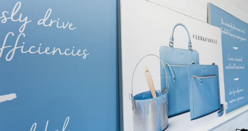 Radley Head Office blue bags