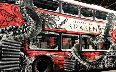 Kraken Rum Bus Wrap