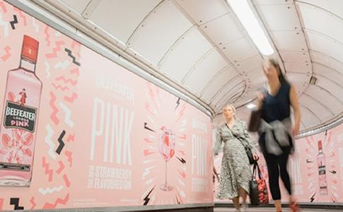 Beefeater Pink Gin London Underground