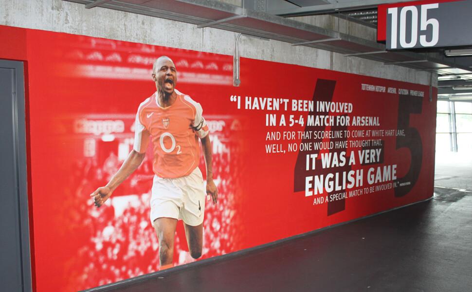 Arsenal FC Emirates Stadium wall graphics