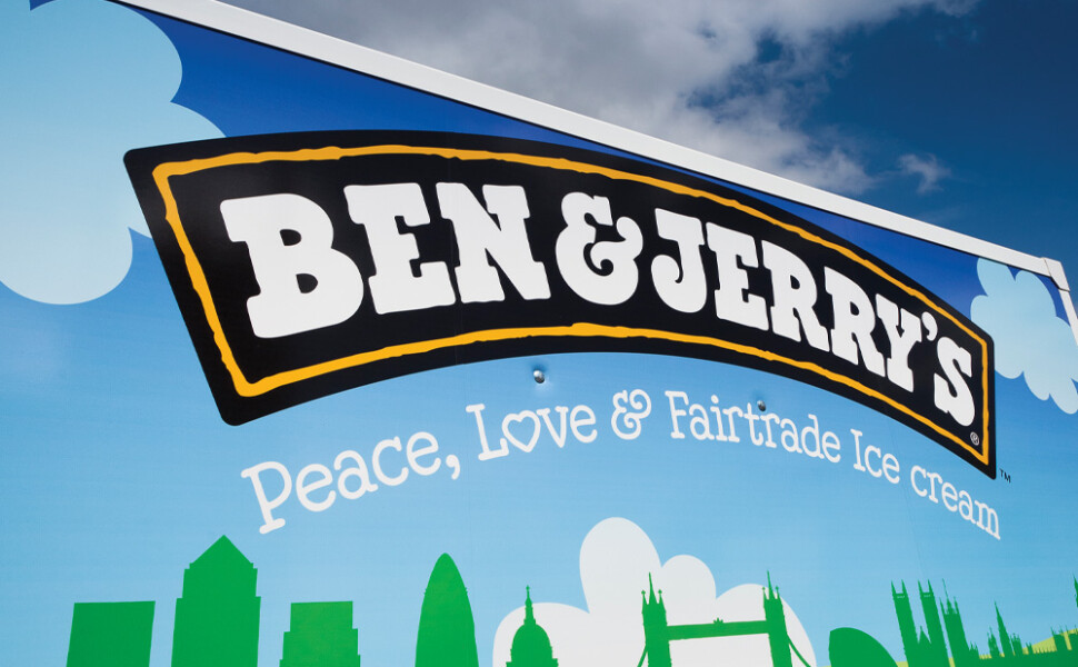 Ben & Jerry's logo close up