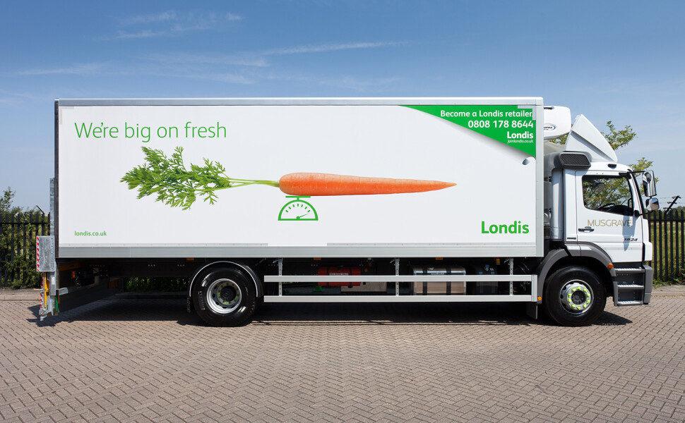 Londis lorry livery