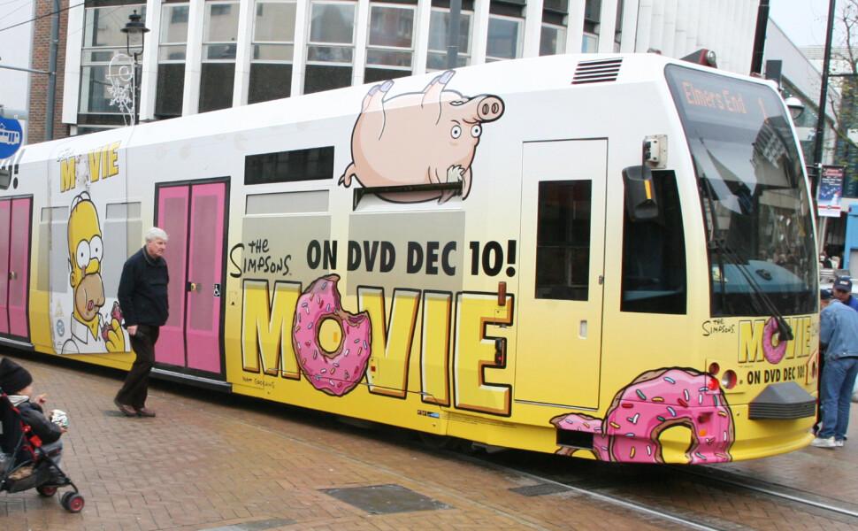 Simpsons Tram