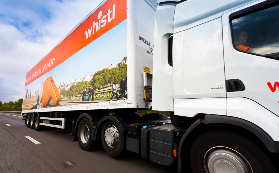 Whistl transport livery graphics applied by VGL