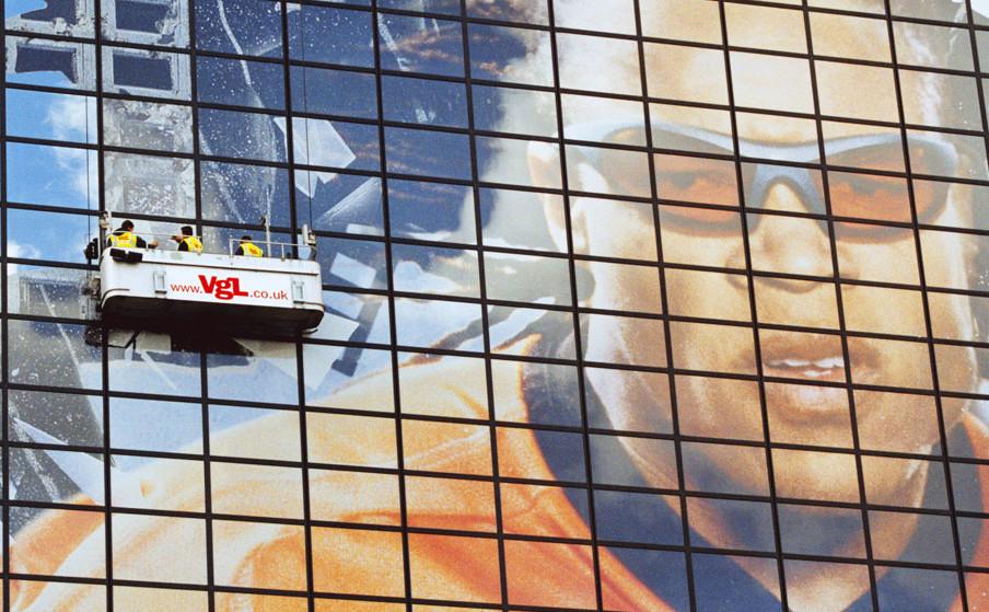 Nike Edgar Davids Building Wrap world record