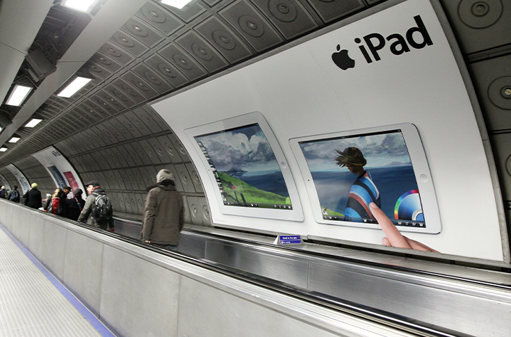 Advertising apple ipad