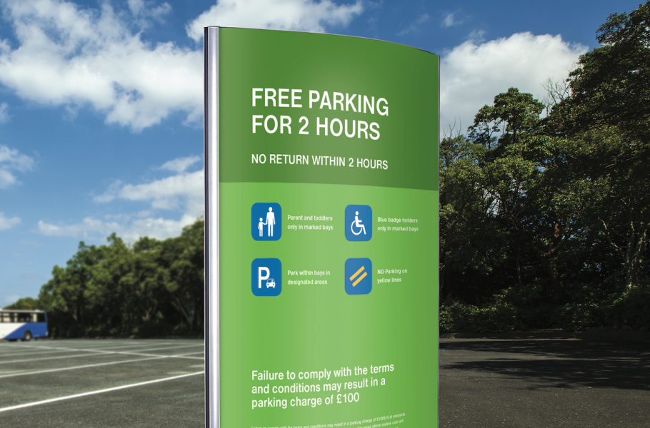 Wayfinding hospital parking